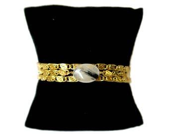 Golden rutilated quartz bracelet