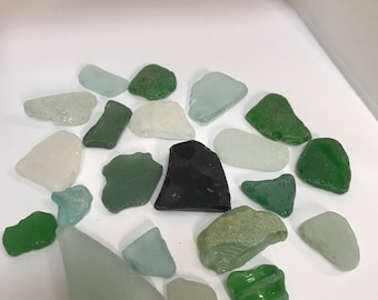 20 pieces of genuine sea glass