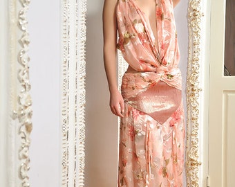Couture Extravagant Silk Dress