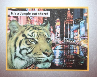 It's a Jungle Out There Tiger Card