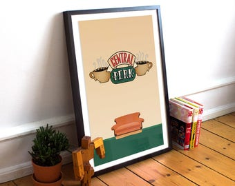 Central Perk print: Central Park poster, cup, mug, Friends Central Perk, Central Perk sign, TV props, Friends TV Shop, Friends coffee mug