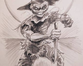 Scarecrow drawing