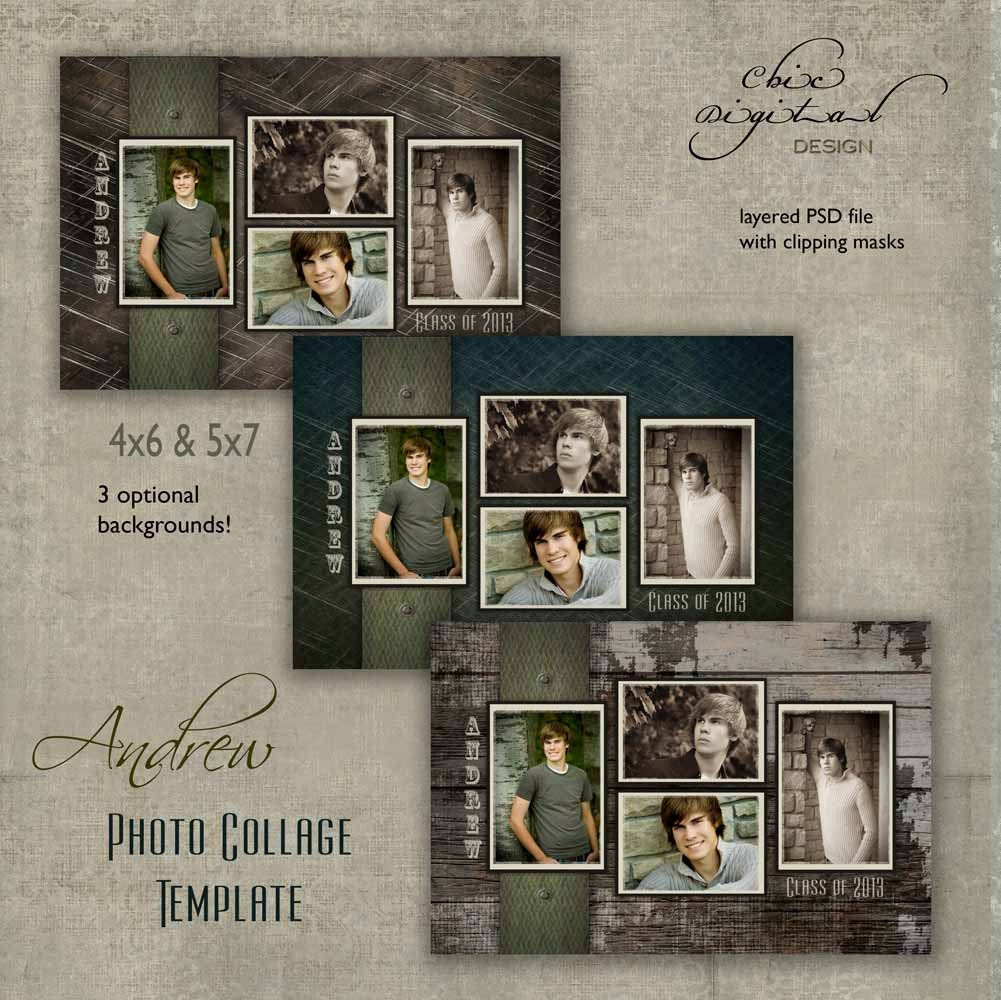 Senior Photo Collage / Graduation template for High School