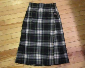scottish wool kilt vintage kilts glenisla scotland sz 8 vintage kilt