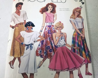 Vintage Pattern, CUT, McCall's 3074, Misses Skirts, Size 12