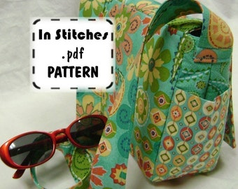 Cross Body Purse PDF Sewing Pattern - Small Joey Shoulder Bag EASY Instructions Tutorial
