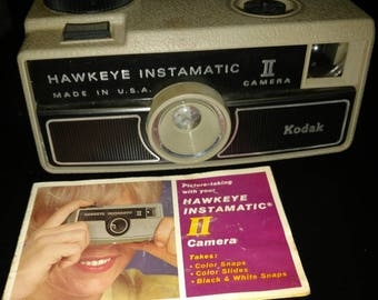 1970's vintage Kodak camera? Hawkeye TI. 126 film camera. With instructions