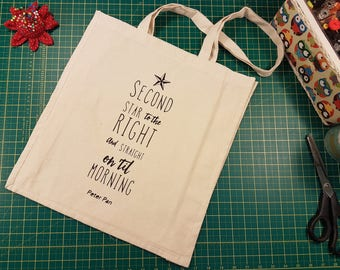 """Peter Pan Tote Bag - """"Second star to the right..."""""""