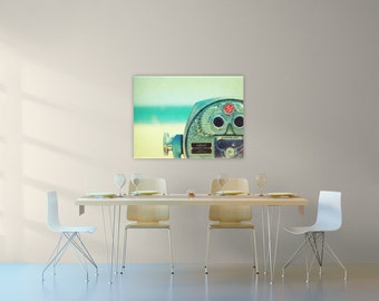 large beach photography // beach canvas // beach art -  beach photograph on large canvas