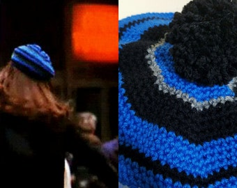 Mary Tyler Moore 70's style crochet hat beret  tam costume retro fashion hat  gift idea hat toss 70's television