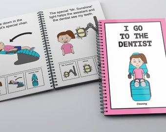 I Go To The Dentist Childrens Book (Cleaning)- Dental Girl/PECS social story