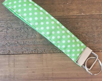 Green Polka Dot Key FOB