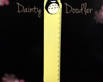 Yellow Totoro Ruler / Kawaii / Flexible / Stationery / School / Kids / Office / Desk / Gift