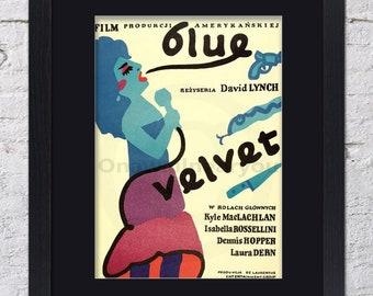 Blue Velvet - Mounted & Framed Vintage Print