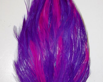 One HACKLE Feather Pad - PURPLE/HOT Pink