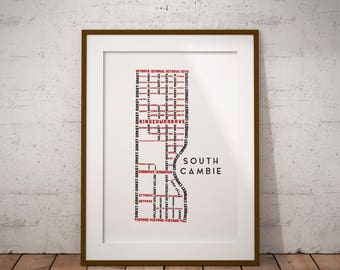 South Cambie Map