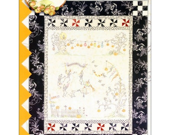 "Pattern ""Dance By The Light Of The Moon"" Quilt by Crab-apple Hill Studio (CAH332) Hand Embroidery Pattern"