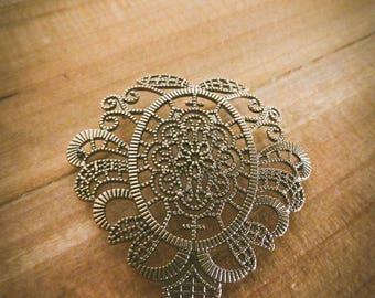 a bronze lace chandelier steampunk pendant floral 50x50mm