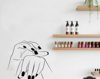 Wall Decal Nail Salon Art Beauty Salon Nail Stylist Nail Art Polish Manicure Woman Gift 1277t