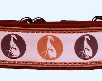 """Sitting Hounds in Tans  1.5""""  Martingale Collar-"""