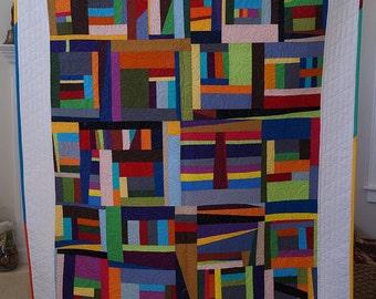 Modern Solids Improv Quilt