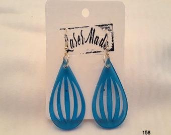 FISHHOOK EARRINGS (Blue Acrylic)