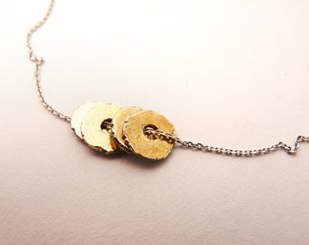 Silver and Gold 'Day and Night' Necklace - One of a Kind