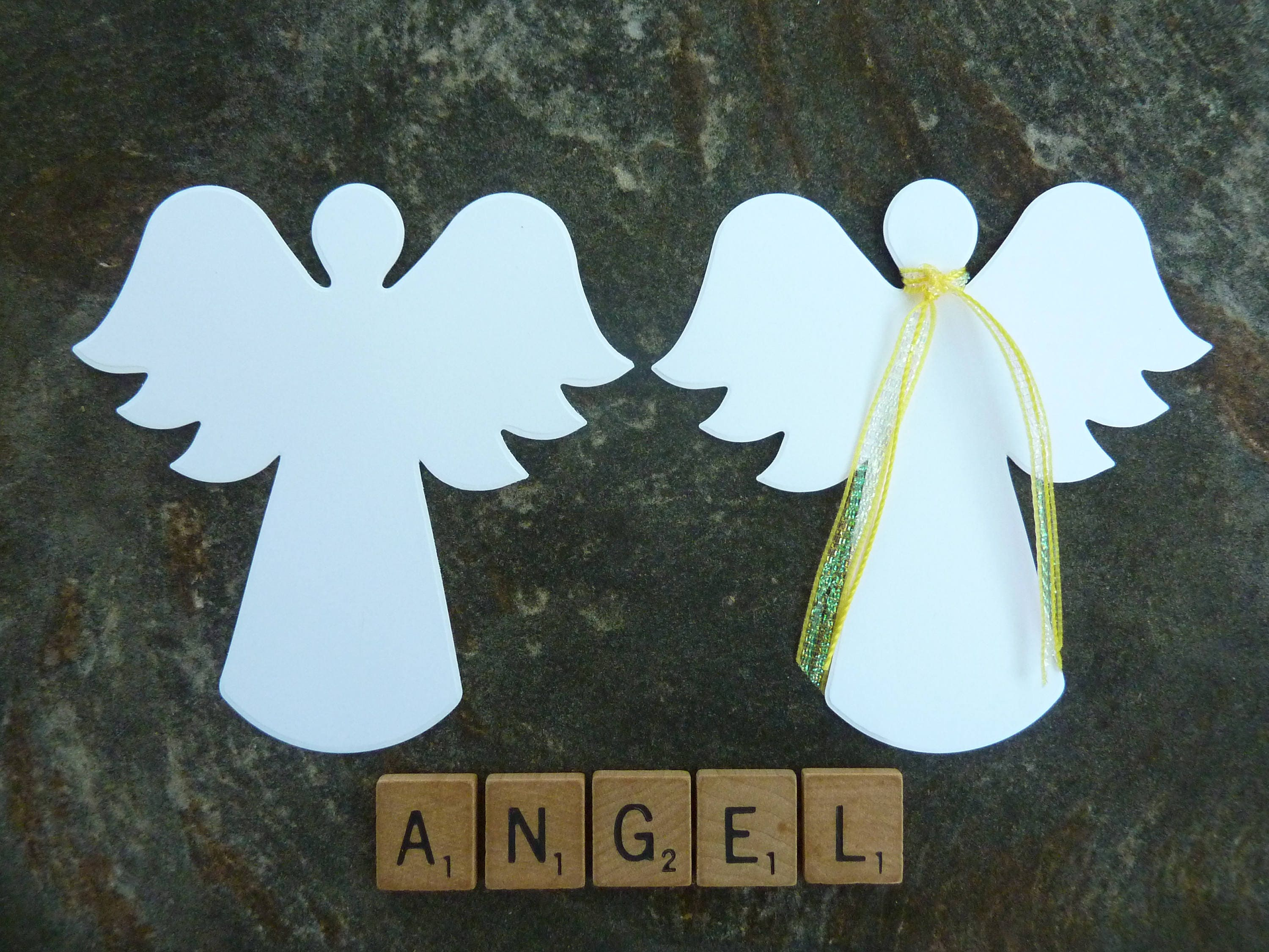50 die cut angel tree christmas paper craft angels hospice 850 jeuxipadfo Images