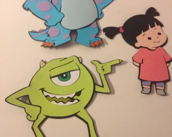 Set of 3 Monster Inc die cuts