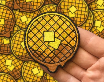 Dripping Waffle Embroidered Patch