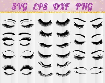 Eye lashs,Eye lash svg,eyelashes,eyelashes svg, jpg, pdf, png, dxf, eps, Eye lash bundle, Cricut cut file,cameo, silhouette,makeup eyelashes