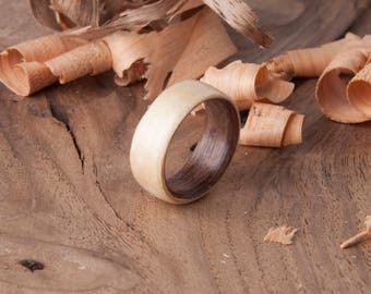 Bentwood Maple/Walnut  Ring - Free US shipping