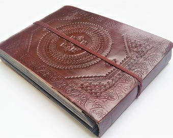 Leather Photo Album, Leather Scrapbook, Large Leather Album, Wedding Book