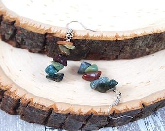 Jade Earrings Jade Silver Earrings Jade Drop Earrings Jade Stacked Earrings Dainty Earrings Genuine Jade Earrings Green Jade Earrings Jade