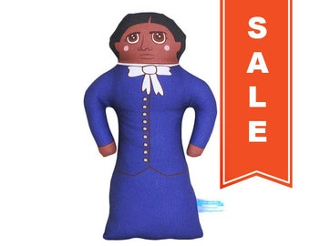 SALE - Harriet Tubman Doll - African American History Handmade Soft Art Cloth Doll - LIMITED EDITION