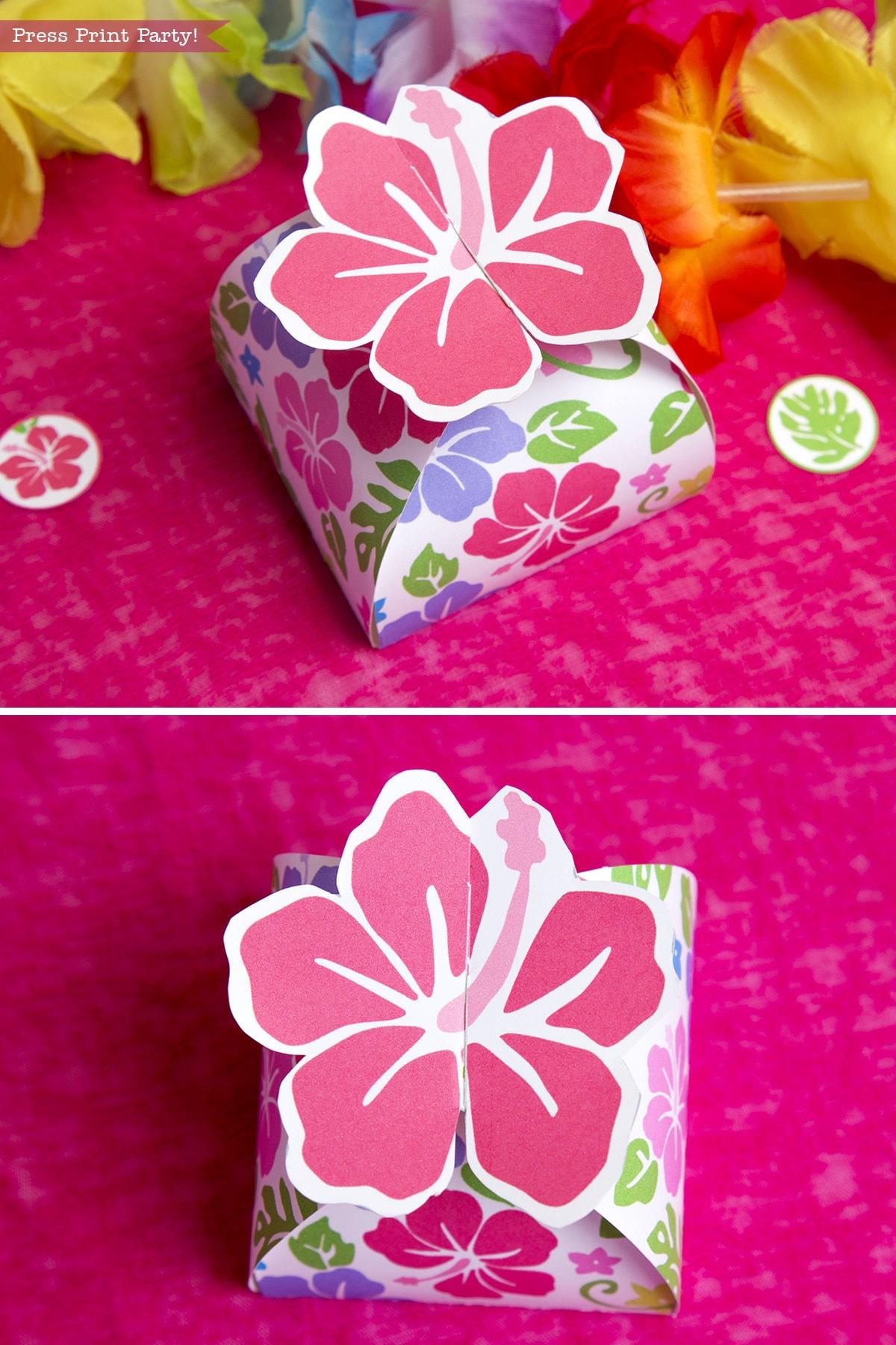 Luau Favor Box printable Luau Party Favor Moana Favor Box