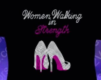 Women Walking In Strength Ministry T-Shirts