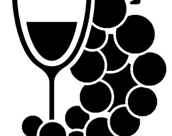 """Wine Grapes Decal 5"""" Choose Color Wall Art Vinyl Decal sticker"""