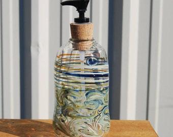 Handblown Glass Soap Dispenser