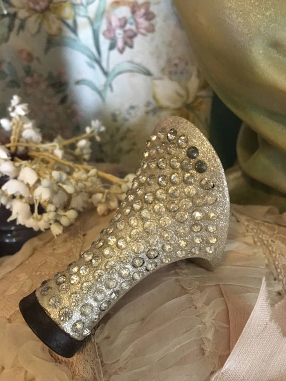 Flapper Rhinestones Embellished Womens Vintage Silver Heels Glitter 6q5ZWAUx