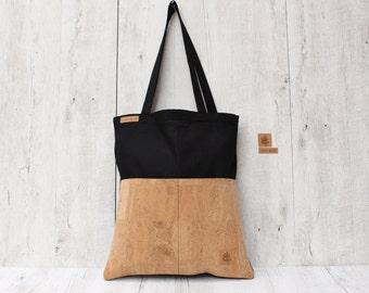 Shopper bag nature cork S.A.N.D. // black