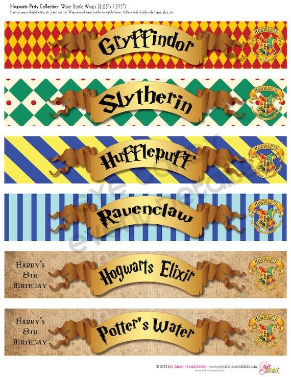 Printable House Banners Harry Potter Invitation Worksheet