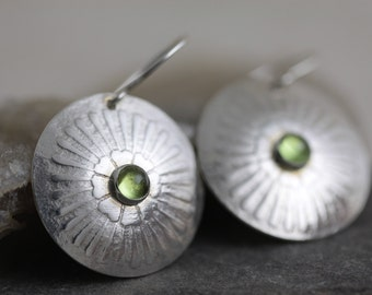 Green Peridot Earrings - Free Ship