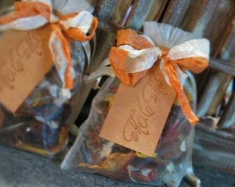 Handmade Potpourri Wedding Favors / Table Decor