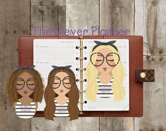 Personalized My Planner Girl Page Keeper Bookmark for your Louis Vuitton Agenda, Kate Spade, Filofax, Happy Planner, A5, A6 and More!