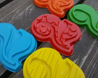Number 2 Two Crayons set of 10 - 2nd Birthday Party Favors - Number Crayons - 2nd Birthday - Second Birthday Favors - Numbers