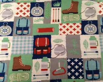 Hiking Flannel Fabric by the Yard