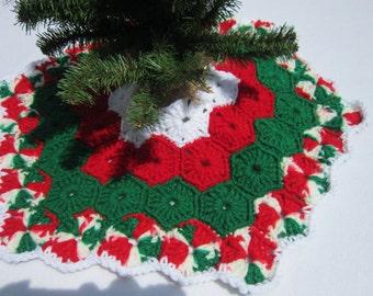 Crochet Mini Christmas Tree Skirt