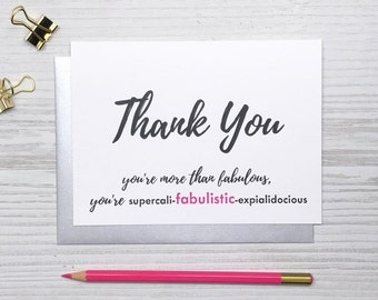 Funny Thank You Card, Thank You Card, Friend Card, Thanks Card, Shoe Card, Charity Card