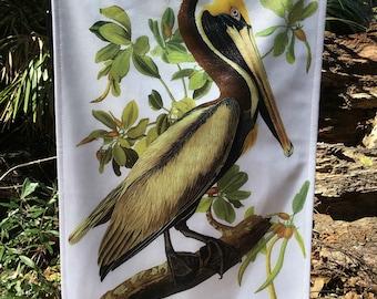 Brown Pelican, Jumbo Audubon Garden Flag